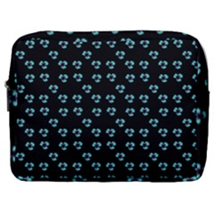 Aqua Pansies Make Up Pouch (large)