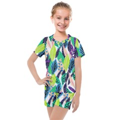 Leaves  Kids  Mesh Tee And Shorts Set