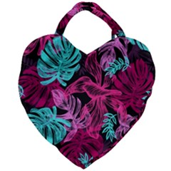 Leaves Giant Heart Shaped Tote by Sobalvarro