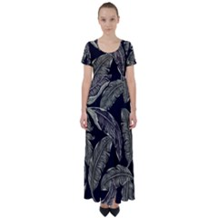 Jungle High Waist Short Sleeve Maxi Dress by Sobalvarro