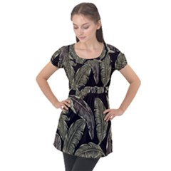 Jungle Puff Sleeve Tunic Top by Sobalvarro