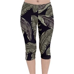 Jungle Velvet Capri Leggings