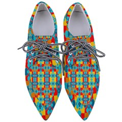 Pop Art  Women s Pointed Oxford Shoes by Sobalvarro