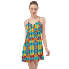Pop Art  Summer Time Chiffon Dress by Sobalvarro