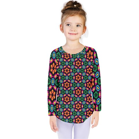 Pattern  Kids  Long Sleeve Tee by Sobalvarro