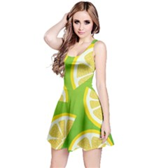 Lemon Fruit Healthy Fruits Food Reversible Sleeveless Dress