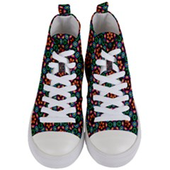 Pattern  Women s Mid Top Canvas Sneakers