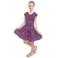 Kaleidoscope  Kids  Short Sleeve Dress by Sobalvarro
