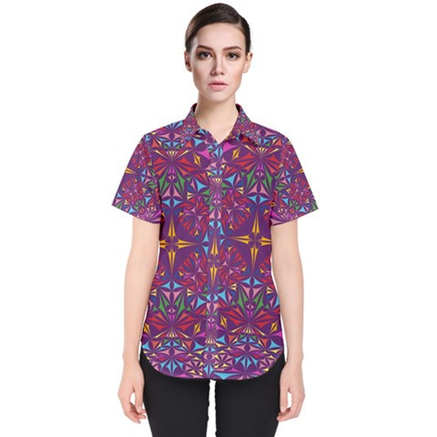 Kaleidoscope  Women s Short Sleeve Shirt by Sobalvarro