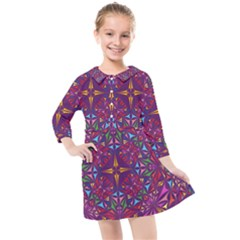 Kaleidoscope  Kids  Quarter Sleeve Shirt Dress by Sobalvarro