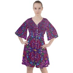 Kaleidoscope  Boho Button Up Dress