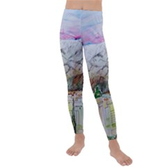 Mendoza City Argentina Mountains Kids  Lightweight Velour Leggings by Wegoenart