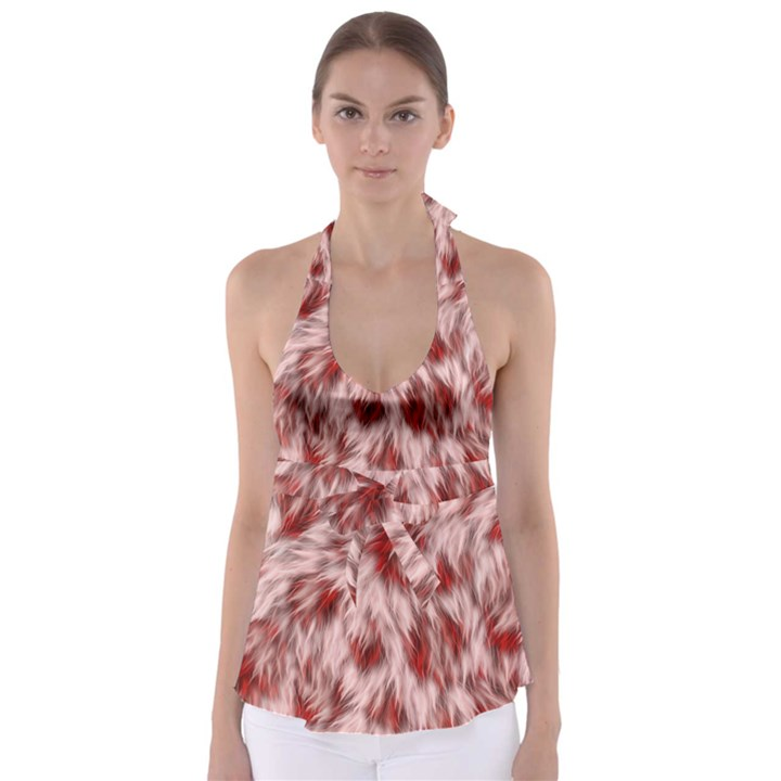 Abstract  Babydoll Tankini Top