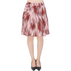 Abstract  Velvet High Waist Skirt by Sobalvarro