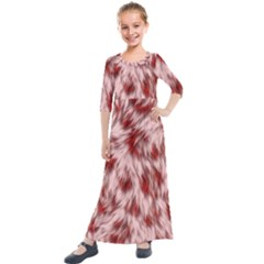 Abstract  Kids  Quarter Sleeve Maxi Dress by Sobalvarro