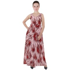 Abstract  Empire Waist Velour Maxi Dress by Sobalvarro