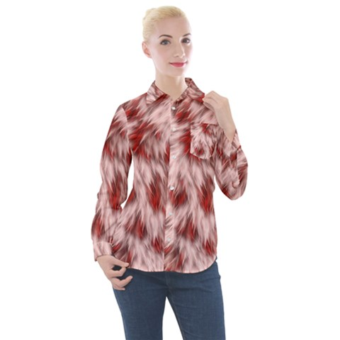 Abstract  Women s Long Sleeve Pocket Shirt by Sobalvarro