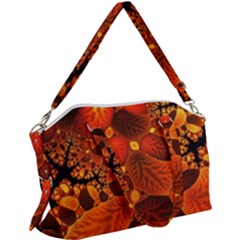 Leaf Autumn Nature Background Canvas Crossbody Bag