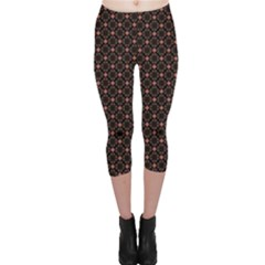 Pattern Texture Drawing Wall Capri Leggings