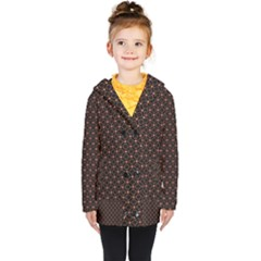 Pattern Texture Drawing Wall Kids  Double Breasted Button Coat