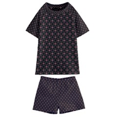 Pattern Texture Drawing Wall Kids  Swim Tee And Shorts Set