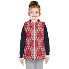 Design Pattern Texture Kids  Hooded Puffer Vest by Wegoenart