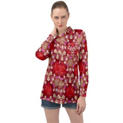 Design Pattern Texture Long Sleeve Satin Shirt