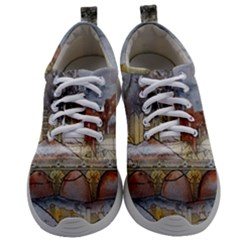 Airships Flight Travel Sky Mens Athletic Shoes by Wegoenart