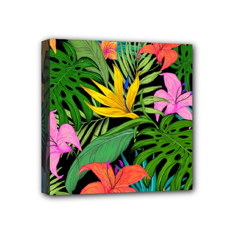 Tropical Greens Mini Canvas 4  X 4  (stretched) by Sobalvarro
