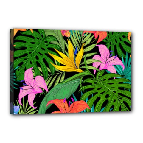 Tropical Greens Canvas 18  X 12  (stretched) by Sobalvarro