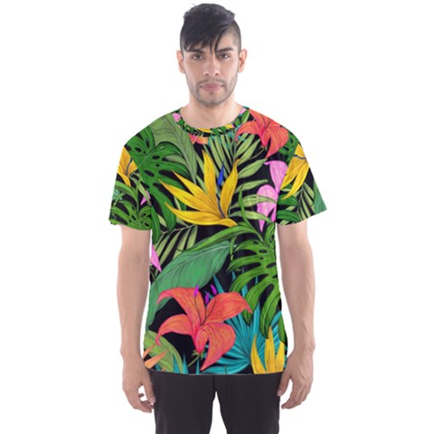 Tropical Greens Men s Sports Mesh Tee by Sobalvarro