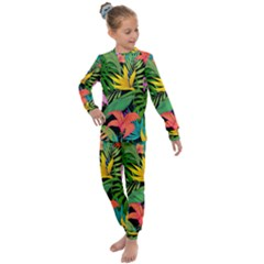 Tropical Greens Kids  Long Sleeve Set  by Sobalvarro