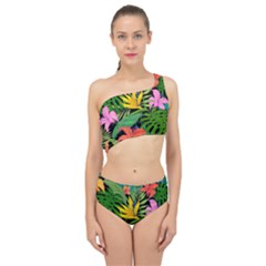 Tropical Greens Spliced Up Two Piece Swimsuit by Sobalvarro