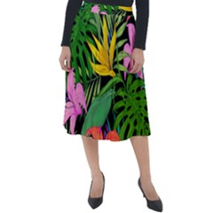 Tropical Greens Classic Velour Midi Skirt  by Sobalvarro