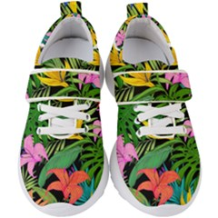 Tropical Greens Kids  Velcro Strap Shoes by Sobalvarro