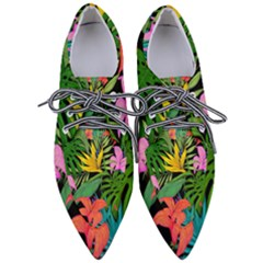 Tropical Greens Women s Pointed Oxford Shoes by Sobalvarro