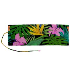 Tropical Greens Roll Up Canvas Pencil Holder (m) by Sobalvarro