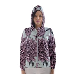 Flowers Women s Hooded Windbreaker by Sobalvarro
