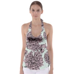 Flowers Babydoll Tankini Top by Sobalvarro