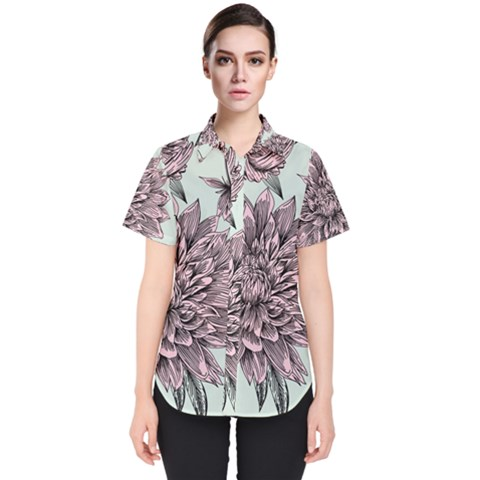 Flowers Women s Short Sleeve Shirt by Sobalvarro
