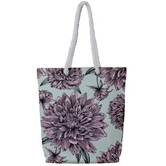 Flowers Full Print Rope Handle Tote (small) by Sobalvarro