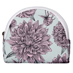 Flowers Horseshoe Style Canvas Pouch by Sobalvarro
