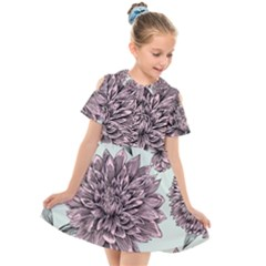 Flowers Kids  Short Sleeve Shirt Dress by Sobalvarro