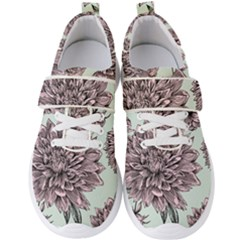 Flowers Men s Velcro Strap Shoes by Sobalvarro