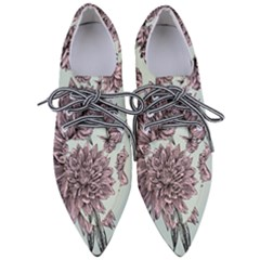 Flowers Women s Pointed Oxford Shoes by Sobalvarro