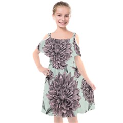 Flowers Kids  Cut Out Shoulders Chiffon Dress by Sobalvarro