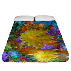 Apo Flower Power  Fitted Sheet (king Size) by WolfepawFractals