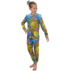 Apo Flower Power  Kids  Long Sleeve Set  by WolfepawFractals