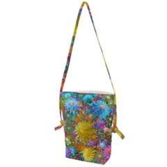 Apo Flower Power  Folding Shoulder Bag by WolfepawFractals
