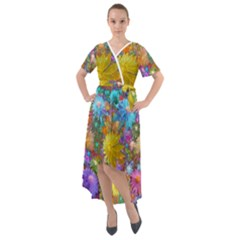 Apo Flower Power  Front Wrap High Low Dress by WolfepawFractals